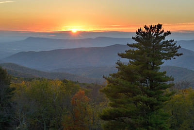 Sunset from Hazeltop Ridge Overlook