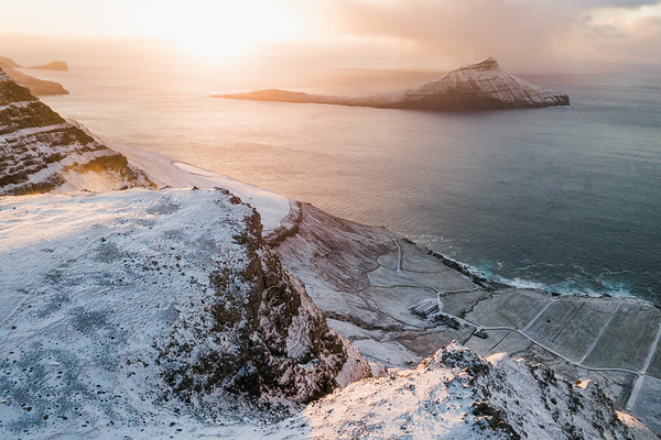 Koltur island at sunset