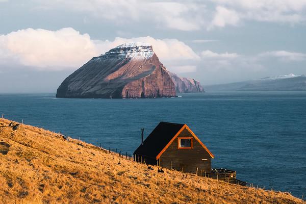 Koltur island as seen from Vagar island