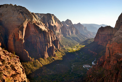 Zion Canyon from Angels Landing, Zion National Park