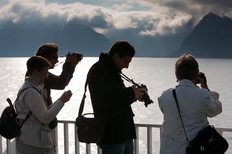 """A """"kodak moment"""", approaching the Lofoten Islands on the ferry from Bodo."""