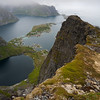 View from Mt. Reinebringen. Reine, Lofoten.