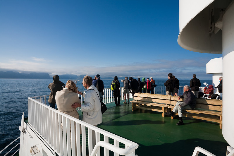 Approaching the Lofoten Islands on the ferry from Bodo.