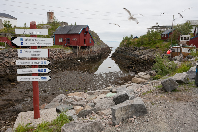 Downtown Ä, the end of the road in the Lofoten Islands. Although the village's name has only one single letter I was still unable to pronounce it correctly! Lofoten.