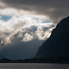 The Lofoten Islands as seen from the ferry from Bodo. Lofoten