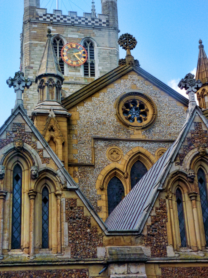 Southwark Cathedral, Borough district, south of Thames. c.900 AD, rebuilt in Gothic style 13th c.