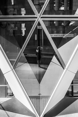 Self portrait at the building known as the Gherkin.