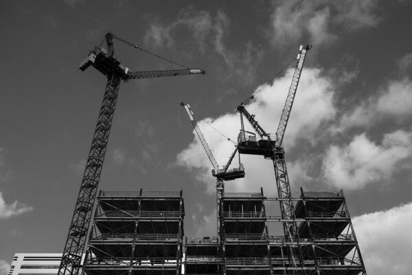 Everywhere you look, there's construction. I once stood at the top of a 17 storey building with a 180 degree view, and counted 75 cranes.