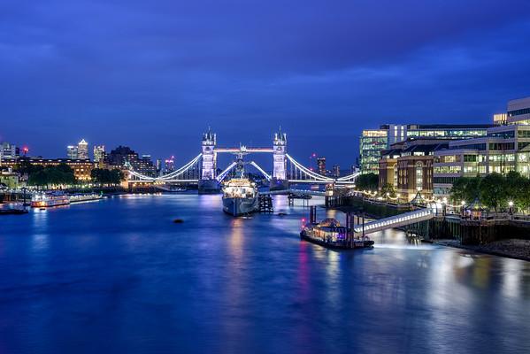 Tower Bridge During Blue Hour II