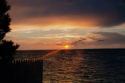 Sunset over Barnegat Bay - Long Beach Island, New Jersey
