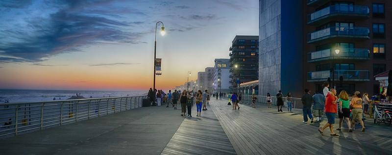 An Evening on the Boardwalk, Long Beach, NY
