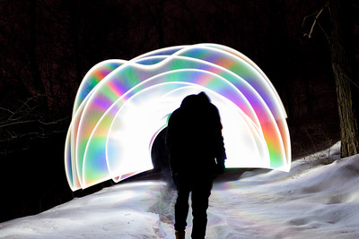 Snow lights 🌈