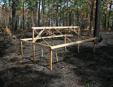 Wooden Frame for Drought Experiment, Camp Whispering Pines, Louisiana