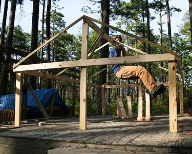 A rigorous test confirms that our rain shelters will withstand hurricane-force winds, Camp Whispering Pines, Louisiana