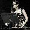 Jennifer Wagner performs vibraphone for the premiere of Kyle Gann's song cycle, Proença.