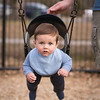 My nephew, just barely big enough to swing.