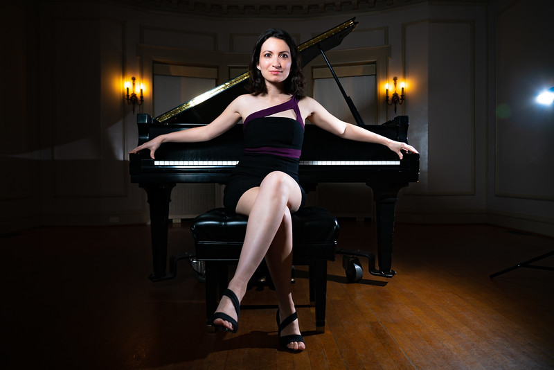 Promotional shoot for pianist Bridget O'Leary.