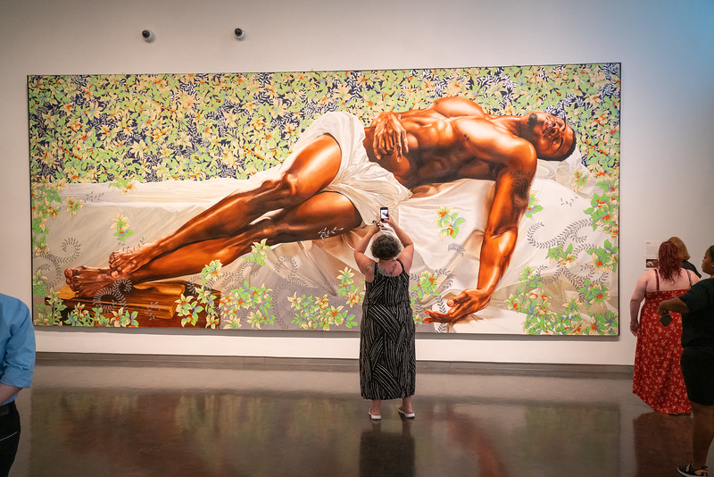 "From the Nelson-Atkins ""30 Americans"" temporary exhibit, ""Sleep"" (2008) by Kehinde Wiley."