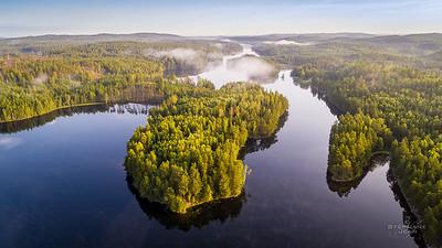 View over Svärdlång lake