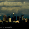 los angeles skyline - clearing storm