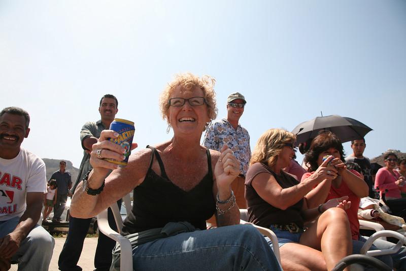 Sandie cheers