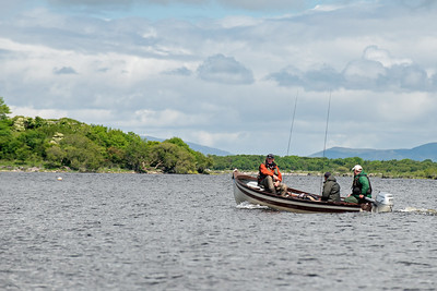 Setting out on a days fishing on Lough Mask