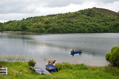 Flyfishing for trout Callow Loughs, Mayo