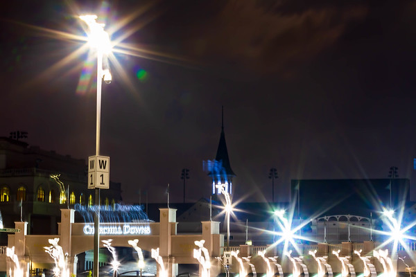 Spires at night - 2
