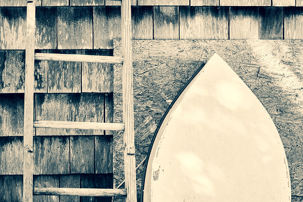 Vintage Boat and Wood
