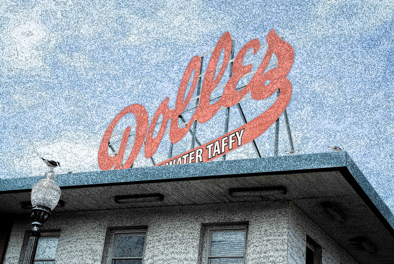 Iconic Rehoboth Beach Dolles Saltwater Taffy Sign