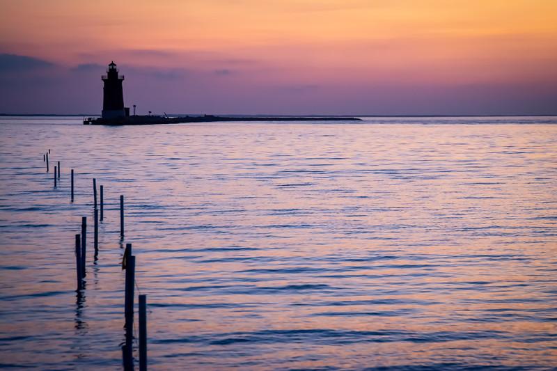 Sunset Over the Delaware Breakwater Lighthouse