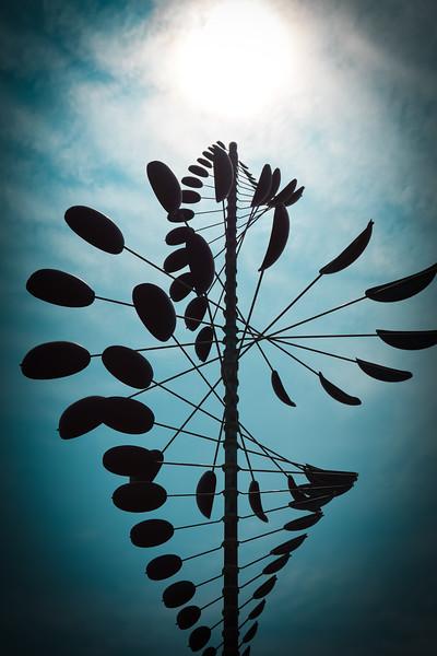 Wind Sculpture with Sun