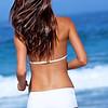 Beautiful brunette on beach