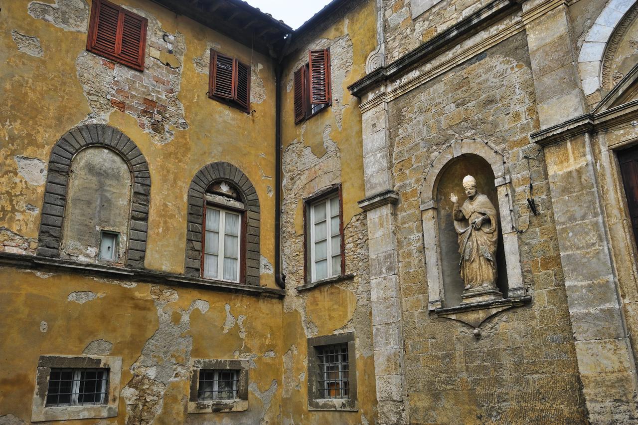 Random courtyard in Volterra, Italy