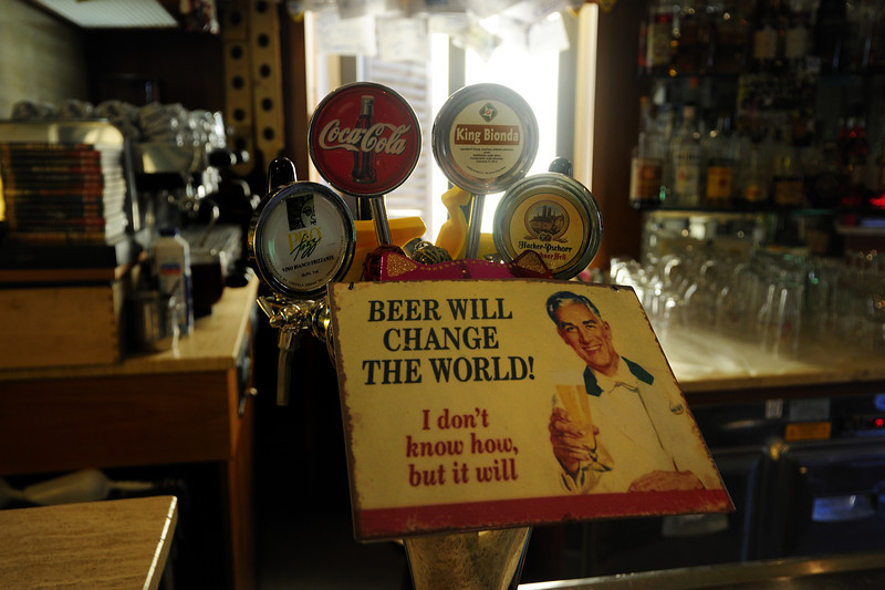 In a pub in Barga, Italy