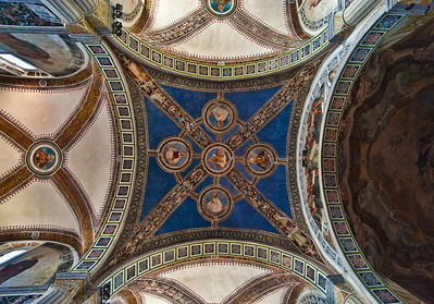 Bobbio, cathedral ceiling.