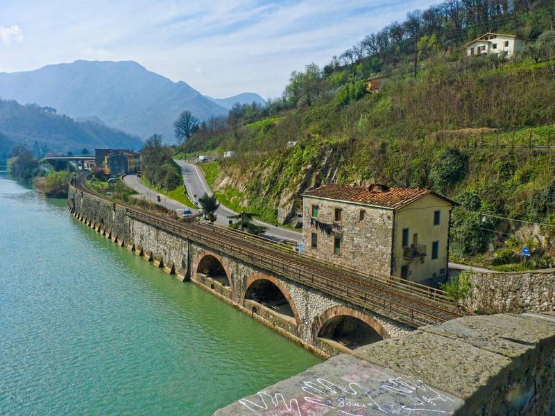 Looking south from Ponte Maddelena – Devil's Bridge, Bagni di Lucca