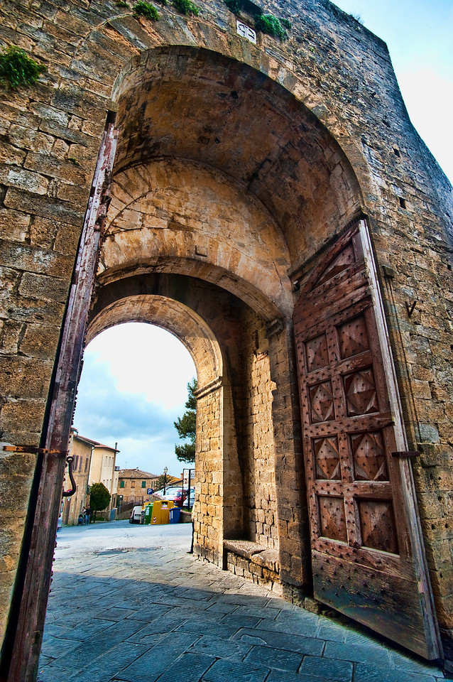 Entrance door, Volterra, Italy