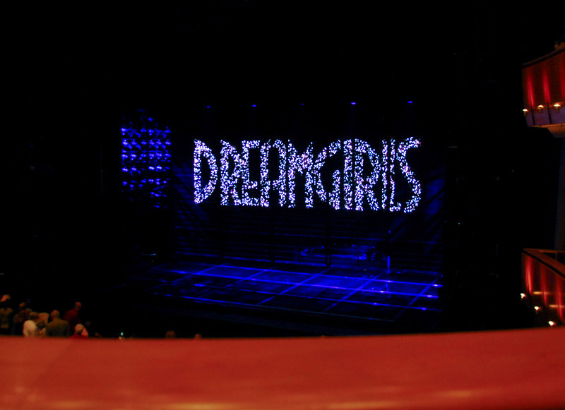 66/365<br /> Dreamgirls at the Ahmanson Theater in LA on March 7th. Great seats, first row Mezz.  Good production with an amazing set dominated by LED(?) back panels - but sometimes I think over-shown the play itself.