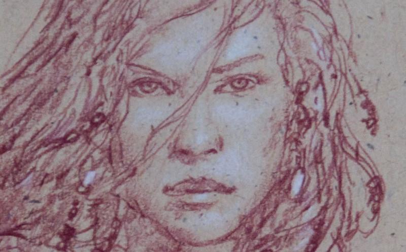 148/365<br /> Red Sonja, Donato Giancola. Original, pencil