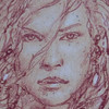148/365<br /> Red Sonja, Donato Giancola. Original, pencil