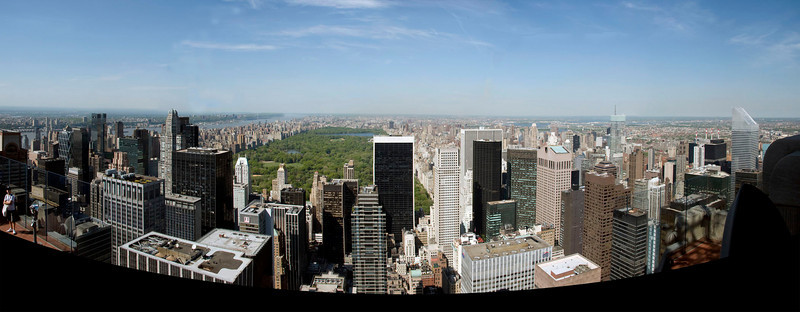124/365<br /> Central Park from the Top of the Rock. This is a composite of about 8 photos.