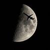 United Flight #4155 Silhouette