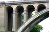 Adolphe Bridge, also called the New Bridge (the southern arch and pillars) - Luxembourg City