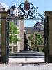 Statue of the Grand Duchess Charlotte - who ruled from 1919-1964, this 9 ft. (2.75 m) tall bronze statue was erected in 1990 at Clairefontaine Square - Luxembourg City