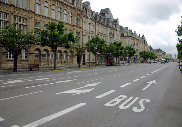 Gare quarters - southeast down the Avenue de la Liberte (the Avenue of Liberty), which intersects the Railway Station - Luxembourg Part of the Bourbon Plateau