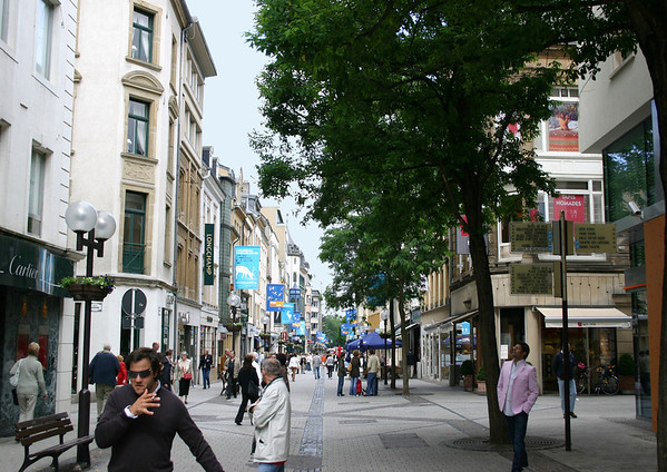 Business District of the Ville Haute quarters - old City Central - Luxembourg City