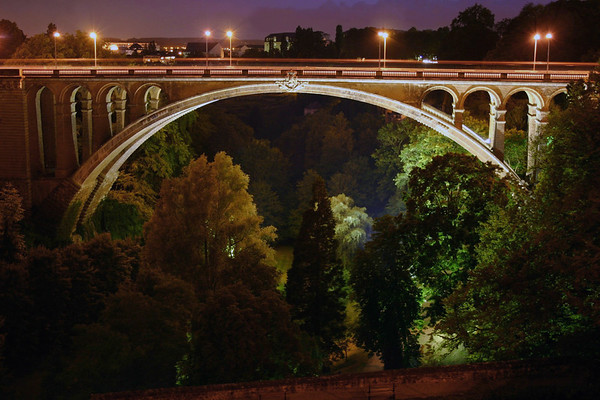 Adolphe Bridge, also called the New Bridge - above the Pétrusse Valley - Luxembourg City
