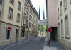 Ville Haute quarters, the old City Central - with the twin spires of the Church of Our Lady, the Notre Dame Cathedral of Luxembourg City