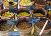 Olives for sale at the outdoor Market - Place d'Armes square - Luxembourg City